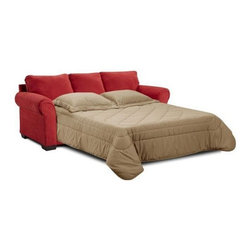 Simmons Upholstery - Cabot Microfiber Sofa and Loveseat Set - 1640QL - Queen sleeper sofa and loveseat set