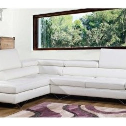 Bellini Modern Sicilia Leather Sectional - With plenty of room to spread out, the Bellini Modern Sicilia Leather Sectional creates a luxuriously comfortable focal point for your living room. It's built on polished stainless steel legs, and comes in your choice of configuration and color.About Bellini Modern LivingKnown for their innovative furniture designs, Bellini Modern Living is dedicated to producing European-style furniture that allows you to show off your personal style - at a fraction of the price of European-made products. Established in 2002 in Toronto, Canada, Bellini expanded to the U.S. in 2007, working with American and European designers to create exclusive designs. With great workmanship and a wide selection, Bellini is sure to offer products to appeal to almost any tastes.