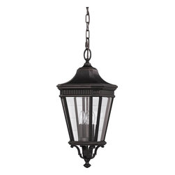 Murray Feiss - Murray Feiss Cotswold Lane Transitional Outdoor Hanging Light X-ZBG1145LO - Inspired by the handsome design of traditional European lanterns, this outdoor hanging light by Murray Feiss is a perfect choice for lighting an entryway or patio. The clear beveled glass ensures a brilliant quality of light, complemented by a deep Grecian bronze finish.