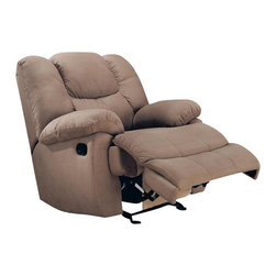 """Coaster - Rocker Recliner (Beige) By Coaster - Add more style and beauty to any designed room of your house with this adorable recliner! It presents comfortable seating and durable construction for lasting use. Dimensions: 41""""W x 42""""D x 41""""H"""