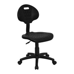 Flash Furniture - Flash Furniture Office Chairs Industrial Task Chairs X-GG-G809-LW - This utility task chair is perfect in environments where spills are common. The soft polypropylene seat and back makes clean up fast and easy and material resists staining. Textured seat and back provides a safety measure when working in hazardous environments and precautions are of high importance. [WL-908G-GG]