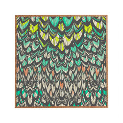 Pattern State Flock Framed Wall Art - Bamboo frame with high gloss print