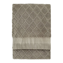 Trellis Bath Sheet, Sage