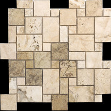 Philadelphia Random Sized Mini Pattern Travertine Filled and Honed Mosaic in Bei