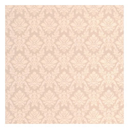Graham & Brown - Damask Wallpaper - A beige small scale damask design that would add a touch of classical charm to any wall. A quality expanded vinyl wallpaper product that is thick enough to cover nay minor imperfections in your wall.