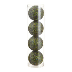 Silk Plants Direct - Silk Plants Direct Beaded Ball Ornament (Pack of 6) - Green - Pack of 6. Silk Plants Direct specializes in manufacturing, design and supply of the most life-like, premium quality artificial plants, trees, flowers, arrangements, topiaries and containers for home, office and commercial use. Our Beaded Ball Ornament includes the following: