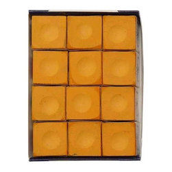 Sterling Gaming - Silver Cup Orange Pool Cue Chalk - 12 Pc Set - Includes 12-pieces of cup chalk. Chalks matching cloth colors. Made in Macon, GeorgiaSilver Cup Chalk is, in our opinion, the best chalk on the market today. Although not as popular as Master, it is only a matter of time before people realize they can get a better chalk for less money! Made by some of the finest people you will ever meet. We suggest matching your chalk color to your cloth color to keep it looking cleaner longer.