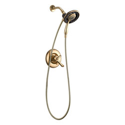Delta - Linden Monitor 17 Series Shower Trim with In2ition Two-in-One Shower - Delta T17294-CZ-I Linden Monitor 17 Series Shower Trim with In2ition Two-in-One Shower in Champagne Bronze.