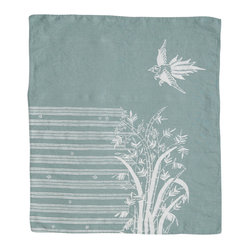 Indochine Friendship Hand Towel, Sky/White