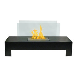 Anywhere Fireplaces - Anywhere Fireplace Gramercy, Indoor-Outdoor - The elegance and clean contemporary design of the glass and black coated metal Gramercy model Anywhere Fireplace works anyplace, indoor or outdoor. Just place in it on the floor on a table and add the ambiance of fire to any location. No installation necessary. The Gramercy is totally free standing and lightweight so you can move it from one location to another-anywhere you want to enjoy the warm glow of fire. NEVER SUBSTITUTE ANY OTHER FUEL IN PLACE OF LIQUID FUEL FOR VENTLESS FIREPLACES. ALWAYS READ ALL INSTRUCTIONS ON YOUR FIREPLACE AND THE FUEL BOTTLE
