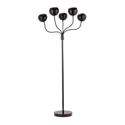 ZUO PURE - Luminosity Floor Lamp Black - Luminosity is wild and fun. The floor lamp comes in two different finishes to match any attire. It comes with a black or white finish. This UL approved lamp is perfect for any mood.