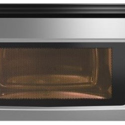 IKEA of Sweden - Framtid Microwave Oven With Extractor Fan - Over-the-range microwaves are shallow in depth, so they can fit under a standard wall cabinet. The shallower depth allows for them to be set lower over the cooking surface (24 inches off the cooktop) than a regular hood (30 inches over a cooktop).