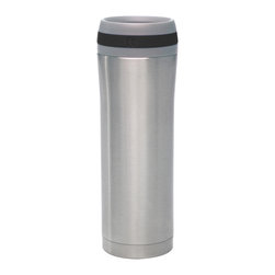 Chantal - Chantal Vacuum Insulated Travel Mug, Glossy Black, 15 Oz. - 15 oz. vacuum insulated travel mug