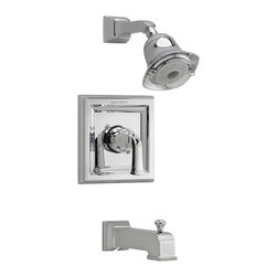 American Standard - American Standard T555.528.224 Town Square Trim Kits Only, Oil Rubbed Bronze. - American Standard T555.528.224 Town Square Trim Kits Only, Oil Rubbed Bronze. This Trim Kit features a single metal lever handle, metal wall escutcheon, cast brass shower arm, water saving FloWise 3-function showerhead, metal slip-on diverter tub spout and it fits models R120, R120SS, R125, R125SS, R127, and R127SS rough valve bodies.
