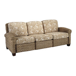Home Styles - Home Styles Cabana Banana II Three Seat Sofa in Honey Finish - Home Styles - Sofas - 540361 - Bring back the island essence with the Cabana Banana II Three Seat Sofa from Home Styles. This eco-friendly piece features frames that are made of 100 percent sustainable natural materials. Construction is from hand braided, four over two woven pattern, banana leaves; mahogany solids, and plywood in a honey finish.