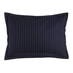 Ralph Lauren Home - Standard Pinstripe Sham - BLUE/WHITE (STANDARD) - Ralph Lauren HomeStandard Pinstripe ShamDesigner Please note: items that are part of the Ralph Lauren Home Collection are not available at any discount and will be removed from our site during sale events.About Ralph Lauren Home:The first designer to create an all encompassing collection for the home Ralph Lauren Home debuted in 1983 and provides a comprehensive lifestyle experience featuring complete luxurious worlds. Whether inspired by timeless tradition or reflecting the utmost in modern sophistication each of the collections is distinguished by the enduring style and expert craftsmanship of Ralph Lauren. With creative vision and impeccable design Ralph Lauren Home offers both transporting seasonal collections and enduring classics. Inspiration is drawn from English country estates the natural tones and textures of the desert or the spirit of adventure embodied in Safari the romance of seaside living the faded florals and classic ticking stripes of American country or the sleek urban aesthetic of a city loft. The line includes bed and bath linens china crystal silver decorative accents and gifts as well as lighting and furniture.