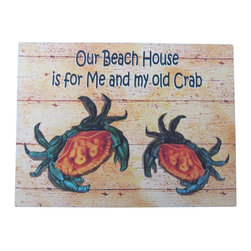 """Handcrafted Model Ships - Wooden My Old Crab Beach House Sign 16"""" - Beach House Sign - This Wooden Old Crab Beach House Sign 16"""" will put a smile on all those who see this mounted in your home. Perfect for welcoming friends and family, or to advertise a festive party at your beach house, bar, or restaurant, this Wooden My Old Crab Beach House Sign 16"""" will brighten your life. Place this beach sign up wherever you may choose, and enjoy its wonderful style and the delightful beach atmosphere it brings."""