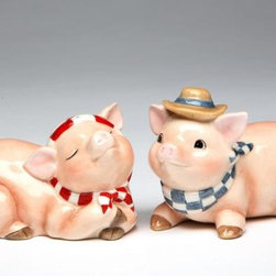 ATD - 2 Inch Western Style Pig Couple Salt and Pepper Shaker Set - This gorgeous 2 Inch Western Style Pig Couple Salt and Pepper Shaker Set has the finest details and highest quality you will find anywhere! 2 Inch Western Style Pig Couple Salt and Pepper Shaker Set is truly remarkable.