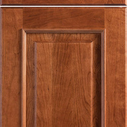 "Dura Supreme Cabinetry - Dura Supreme Cabinetry Montego Cabinet Door Style - Dura Supreme Cabinetry ""Montego"" cabinet door style in Cherry shown with Dura Supreme's ""Henna"" stain with ""Charcoal"" Glaze finish."