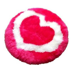 Bowron Fun Rug Heart Sheepskin Rug - Use the Bowron Fun Rug Heart Sheepskin Rug to show someone you care. The red rug has a white heart. This rug is handmade of sheepskin. To preserve the beauty and color of the rug professionally dry-clean only. Made in New Zealand by Bowron it has a one-year limited warranty.About Bowron RugsIn 1879 two brothers George and William Bowron master tanners of Yorkshire set sail for Christchurch in the new colony of New Zealand. They were to start a new life and realize a personal dream - to start a tannery of their own. As Christchurch grew the small tannery flourished and a family tradition of excellence in lambskin tanning began. For over 100 years their commitment to quality and the 42-step tanning process have made the name synonymous with the world's finest sheepskin products. The success of Bowron is a story of unparalleled access to the finest raw materials available cutting-edge process innovation environmental leadership unrivalled manufacturing capacity strong customer relationships and a global distribution network that delivers the finest sheepskins to all the world markets.