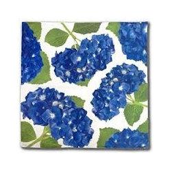Floral Art Dinner Napkin- Blue Hydrangea - Floral Art Cotton Dinner Napkins- Blue Hydrangea