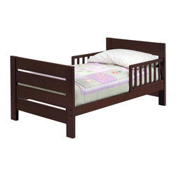 Da Vinci - DaVinci Modena Wood Toddler Bed in Espresso - Da Vinci - Toddler Beds - M0710Q - A great addition to any child's room this Modena Toddler Bed in ebony from DaVinci features a modern polished design with guard rails for added security.Features: