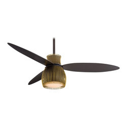 "Minka Aire - Minka Aire F824-ORB/TB Uchiwa Oil Rubbed Bronze 56"" Ceiling Fan + Wall Control - Features:"
