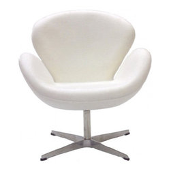 Arne Jacobsen Style Swan Chair in White - In every sense of the word the Swan Chair is a true classic that will never go out of style. The chair was designed in 1958 and was developed for the lobby and reception areas at the Royal Hotel in Copenhagen, and Poly+Bark's Replica is of the highest quality.