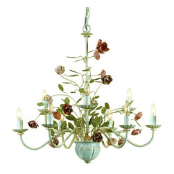"AF Lighting - AF Lighting 7165-9H Elements ""Ramblin' Rose"" 9 Light Double Tier Chandelier - Features:"