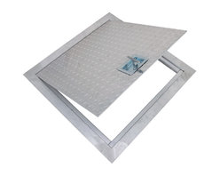 """Best Access Doors - Flush Aluminum Floor Hatch, Mill Finish, 24""""x24"""" - 24"""" x 24"""" Flush Aluminum Floor Hatch.  BA-PPA aluminum floor door is built for interior use to provide a  reliable and secure access between building floors. Its sturdy 1/4""""   thick diamond or smooth finish aluminum door and 1/4""""   thick aluminum frame construction make it the ideal solution for either existing cement floors or poured-in-place concrete.BA-PPA Floor Access Hatch specifications  Submittal Sheet - Material   DOOR: aluminum diamond plate 1/4"""".   FRAME: 2"""" x 2"""" x 1/4"""" aluminum angle Hinge: Heavy duty aluminum continuous piano hinge (0,080) Lock: Recessed handle operated cam latchLeed Qualifications"""