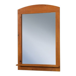 South Shore - Wood Frame Mirror With Sunny Pine Finish - * Manufactured from eco-friendly, EPP-compliant laminated particle boardcarrying the Forest Stewardship Council (FSC) certification. Sunny Pine finish. Shelf and rounded shape. Manufactured from engineered-wood products. Made of engineered wood from 100% recycled wood fiber. 5-year warranty. Assembly required. 28 in. L x 2 in. W x 40.2 in. H. 23.9 lbs