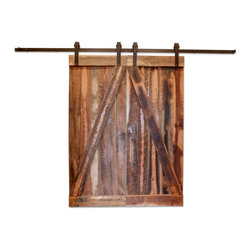 Reclaimed Barn Wood Door - These doors are custom made from reclaimed 100 year old barn wood from Tennessee. Each door is unique and will have original saw marks, nail holes, worm holes, etc, all characteristics of the beauty of reclaimed wood. Does not include hardware. The price is for both doors.