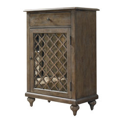 Hooker Furniture - Mirrored Lattice Chest - Remember that beautiful little chest of drawers you saw at a second-hand shop in Spain, but didn't dare ship or take on the plane? Here it is revisited and made of sturdy hardwoods with an intricate lattice door.¡Bravo!