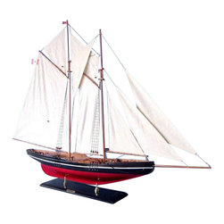 """Handcrafted Nautical Decor - Bluenose 50"""" - Wood Yacht Model - Not a model ship kit"""