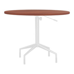 Safco - RSVP 36 in. Round Table Top (Cherry) - Finish: Cherry. Base not included. 36 in. Dia. x 1 in. HNo need to call ahead with RSVP Tables. With these elegantly designed tables any hospitality area will be ready to entertain guests or to get down to business. Use RSVP outside conference areas for people to gather, or use in meeting areas to allow flexibility in how employees meet. Make RSVP a part of your conference or meeting rooms, or have them available near a print station for organizing projects. Use them in lobbies while enjoying a cup of coffee or in a waiting area. RSVP - your table is waiting.