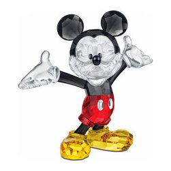 Swarovski - Swarovski Disney Mickey Mouse 2012 - Swarovski Mickey Mouse 2012  -  From Swarovski's Walt Disney Collection  -  Size: 4 Inches Tall  -  Hand Crafted In Fine Swarovski Silver Crystal