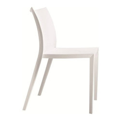 Fine Mod Imports - Angles Plastic Dining Chair White - Comfortable dining chair. Molded ABS frame.