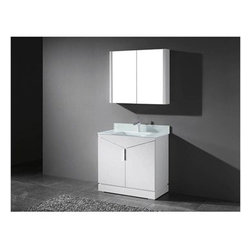 "Madeli - Madeli Savona 36"" Bathroom Vanity for Integrated Basin - Glossy White - Madeli brings together a team with 25 years of combined experience, the newest production technologies, and reliable availability of it's products. Featuring sleek sophisticated lines Madeli vanities are also created with contemporary finishes and materials. Some vanities also feature Blum soft-close hardware. Madeli also includes a Limited 1 Year Warranty on Glass Vessels, Basin, and Counter Tops. Elegance and sophistication are just two words to describe the Savona Collection. Featuring a distinctive, geometric design with unique vertical handle and polished chrome legs, it's sure to add a sense of modern, European flair to your bath. The beauty and warmth of the polyurethane protected solid wood veneer in a Walnut or Glossy White finish accentuate its timeless design, and sets off the beauty of the integrated counter and basin. Two soft-closing doors open to a spacious interior and a concealed interior drawer.Features Base vanity with Blum Soft Close hinge drawer inside Soft-close drawer glides Glossy White finish Polished Chrome handle and leg finish1-1/2""H X-Stone Solid Surface Countertop/basin with overflow drilled for single-hole or 8"" widespread faucetsTempered Glass Basin with Backsplash and without overflow for a single-hole faucetFaucet and drain are not includedMatching mirror and medicine cabinet available Limited 1 Year Warranty on Glass Vessels, Basin, and Counter Tops How to handle your counterSpec Sheet for X-Stone Top Spec Sheet for Glass Top Installation Instructions"