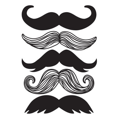 WallPops - Mustache Wall Art Decal Kit - Mustaches are the au courant accessory of choice for hipster-chic irony. Bring some trendy credentials to your walls with this distinguished wall art kit, flaunting several styles of mustache decals, including the popular handlebar and chevron varieties. Add a mustache to all your favorite things! This mustache wall art kit comes with 5 large designer 'staches.