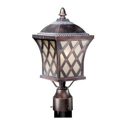 Vaxcel Yorkshire Outdoor Post Light - 7.25W in. Coffee Patina - The traditional European flavor of the Vaxcel Yorkshire Outdoor Post Light - 7.25W in. Coffee Patina makes it an easy choice for anyone with classical tastes and a need for outdoor illumination. This handsome fixture is designed to fit a standard-sized post and has a wet-rated design that's perfect for outdoor use. A single 100-watt, medium-base bulb shines a warm light from behind creme cognac glass shades.About Vaxcel LightingFor over 20 years, Vaxcel International has been a premier supplier of residential lighting products. Based in Carol Steam, Ill., Vaxcel's product line is composed of more than 2,000 items, ranging from builder-ready fixtures and ceiling fans to designer chandeliers and lamps, in the latest styles and finishes. They're known in the industry for offering a full selection of products at competitive prices.