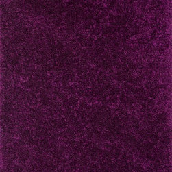"""Loloi Rugs - Loloi Rugs Selma Shag Collection - Plum, 5' x 7'-6"""" - The foundation to a well designed and comfortable room starts with Selma Shag. From India, each rug is hand woven of 100% polyester fabrics that come in rich, eye-catching colors. Best of all is the texture - the polyester fabrics are ruffled with small but impactful ridges in each piece, creating an intriguing look and feel that makes our Selma Shag a stylish statement in any room."""