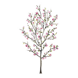 RoomMates - Pink Blossom Tree Peel and Stick Giant Wall Decals - Brighten up your walls with these pink blossom tree wall decals. In delicate shades of pink, this giant wall design can be assembled as desired to create a focal point in a living space, bedroom or dining room. The decals are removable and repositionable, making assembly and future moves a simple task for anyone.
