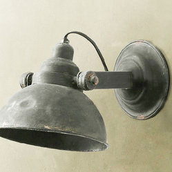 Loft Rusted Industrial Metal Wall Sconce
