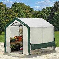 "ShelterLogic - Organic Growers Greenhouse, 6 x 8 x 6ft. 6in./1,8 x 2,4 x 2 m - 6 x 8 x 6'6"" /1,8 x 2,4 x 2m Peak Style Organic Growers Greenhouse"