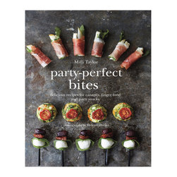 Party-Perfect Bites Hardcover Book - Get help stepping your party up a few notches with this collection of recipes for small bites and finger-foodÑideal for serving at parties or any social gathering, large or small. From delights like smoked eggplant purée to glazed baked chestnuts wrapped in bacon to mini candy cane meringues with whipped cream, you've got something for every party in every season.