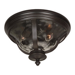 Craftmade - Bronze Frances 2 Light Outdoor Ceiling FixtureFrancs Collection - Craftmade Z6017-92 2 Light Frances Flush Outdoor Close to Ceiling Light, Oiled Bronze This product from Craftmade is offered in an oiled bronze finish.