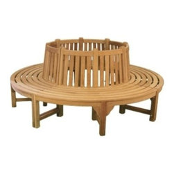 Teak Quarter Surround Tree Bench - Please note that by purchasing a quantity of (1) above you are ordering only 1/4 of the tree surround bench.  If you wish to have the bench go all around the tree a quantity of (4) will need to be purchased.