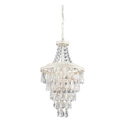 Sterling Lighting - Clear Crystal Pendant Lamp - Bulb not included. Requires one 100 watts medium bulb. Made from metal. 11 in. L x 11 in. W x 19 in. H