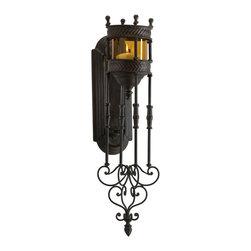 Cyan Design - Cyan Design Wall Candleholder in Muted Rust - Wall Candleholder in Muted Rust