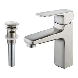 Kraus - Kraus KEF-15501-PU16BN Virtus Single Lever Basin Faucet - At Kraus, we use various elements of design to impress and make a statement in order to turn your private space into a truly unique one